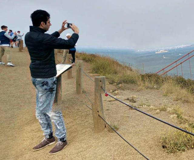 Тот момент, когда панорамный снимок делает мастер своего дела