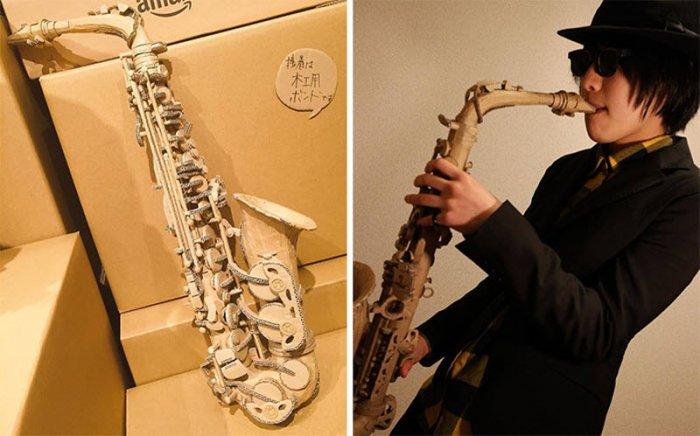 Японская художница Мономи Оно - арт из картонных коробок