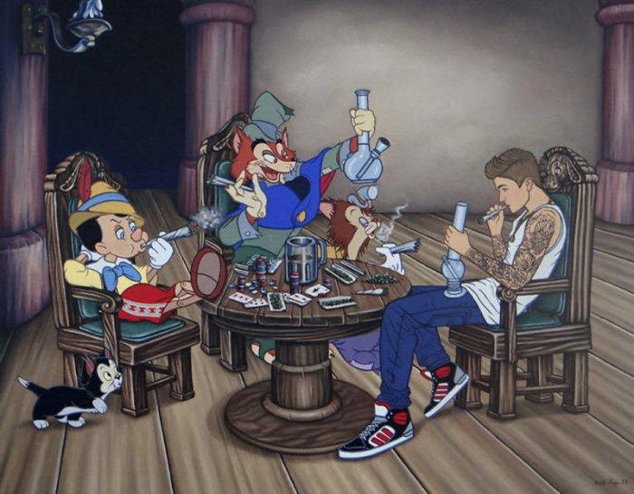 Новый взгляд на иллюстрации к мультфильмам Диснея