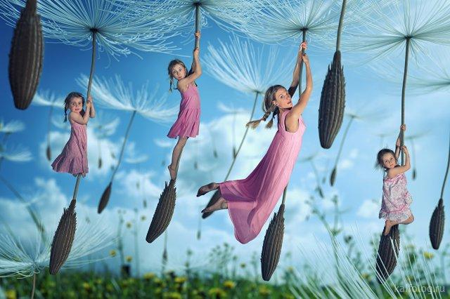 Необычные фотоинсталляции с детьми
